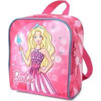 Lancheira Infantil Barbie Feminina - Feminino-Rosa+Pink