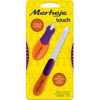 Conjunto - Merheje - Touch - Cortador De Unhas Lima - Violeta / Laranja