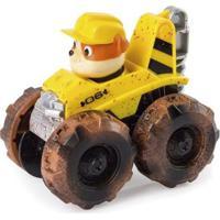 Carrinho Patrulha Canina Rubble Monster Truck Sunny - Unissex-Amarelo