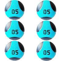 Kit 6 Medicine Ball Liveup Pro C 5 Kg Bola De Peso Treino Funcional - Unissex
