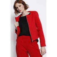 Jaqueta Com Recortes - Vermelha - Malweemalwee