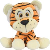Bicho De Pelúcia Safari Tigre 20 Cm Antialérgico Animais Selvagem Para Quarto Do Bebê - Kanui