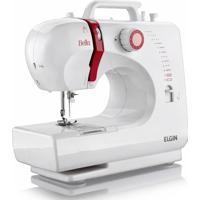 Máquina De Costura Elgin Bella Bl 1200 Bivolt - Branco/Vermelho Branco/Vermelho
