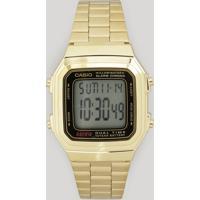 Relógio Digital Casio Feminino - A178Wga1Adfu Dourado
