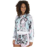 Jaqueta Nike Sportswear Hyper Femme Pk Aop - Feminina - Azul Claro/Preto