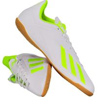 Chuteira Adidas X 18.4 In Futsal Branca E Amarela