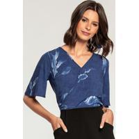 Blusa Tecido Rayon Bali Azul