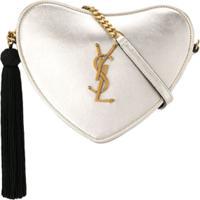 Saint Laurent Bolsa Transversal De Coração - Dourado