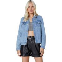 Jaqueta Jeans Estampada
