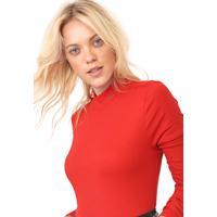 Blusa Ellus Canelada Vermelha