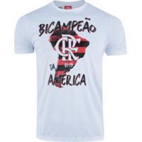 Camiseta Do Flamengo Campeão Da Libertadores 2019 - Masculina - Branco