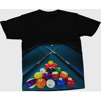Camiseta Darkwood Jogo De Sinuca Preta