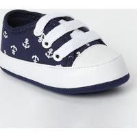 Tênis Com Recortes- Azul Marinho & Brancotico Baby