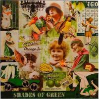 Quadro Fotos Vintage Green Fullway 70X70