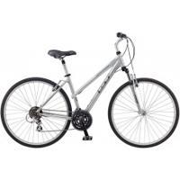 Bicicleta Gt Nomad 1 0 - Aro 700 - Freio A Disco - Câmbio Traseiro Shimano - 21 Marchas - Feminina - Prata
