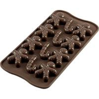 Forma De Silicone Para Chocolate Mr Ginger Silikomart Marrom 21,5Cmx10,5Cm - 25533