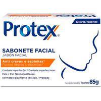 Sabonete Facial Em Barra Protex Anti Cravos E Espinhas Com 85G 85G