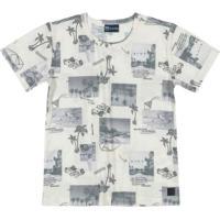 Camiseta Infantil Flame Manga Curta Bege