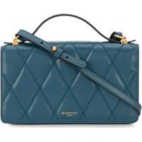 Givenchy Bolsa Transversal Matelassê De Couro - Azul