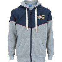 Jaqueta Com Capuz Nba Cleveland Cavaliers - Masculina - Cinza/Azul Esc