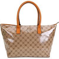 0d7fff39f ... Bolsa Capodarte Shopper Monograma Feminina - Feminino-Caramelo+Bege