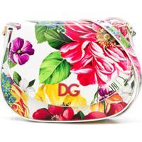 Dolce & Gabbana Kids Bolsa Tiracolo Com Estampa Floral - Branco
