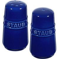 Mini Saleiro E Pimenteiro Cerâmica Azul Marinho Staub