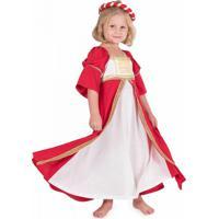Fantasia Infantil Victoria Vermelho 8 Anos Roupa Brinquedo Lé Com Cré