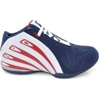 Tênis De Basquete D&R Shoes Masculino - Masculino-Azul+Vermelho