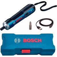 Parafusadeira A Bateria 3.6V De Ion Lítio Bivolt Go Com Estojo + Bits E Pontas Azul E Preta
