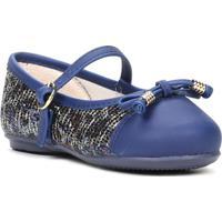 Sapato Infantil Para Bebê Menina Azul Marinho - Feminino-Azul