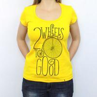 Two Wheels - Camiseta Clássica Feminina