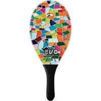 Raquete De Frescobol Evo Fibra De Vidro Mosaique