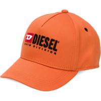 Diesel Kids Embroidered Baseball Cap - Laranja