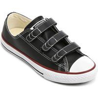 Tênis Infantil Converse All Star Chuck Taylor 3 Velcros - Unissex-Preto
