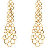 Par De Brincos Texturizados Banhado A Ouro- Dourado-Isabela Borgonian