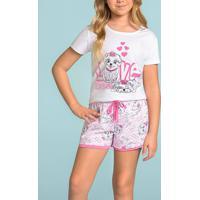 Pijama Infantil Com Mangas Love Dog 111185 Lua Encantada