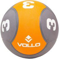Bola Medicine Ball Vollo 3 Kg Borracha Vp1003
