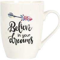 """Caneca """"Always Believe In Your Dreams""""- Branca & Preta"""