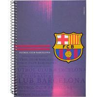 Caderno Foroni Barcelona Escudo 1 Matéria Azul