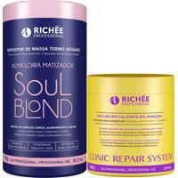 Kit Richée Máscara Clinic Repair + Soul Blond Termo Ativado