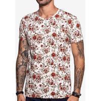 Camiseta Floral Branca 103842