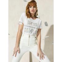 Blusa Estampada New Times Off White