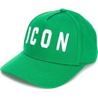 Dsquared2 Kids Boné Com Slogan Bordado 'Icon' - Green