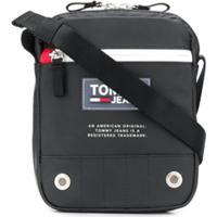 Tommy Hilfiger Logo Patch Messenger Bag - Preto