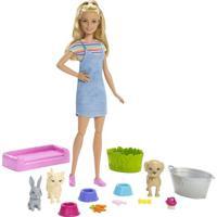 Boneca Barbie Banho Cachorrinho