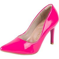 Scarpin Firezzi Em Verniz Azaleia - Feminino-Pink