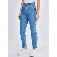 Calça Mom Em Jeans Médio
