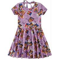 Vestido Lilás Barbie® Decote Costas Malwee Kids