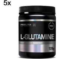 Kit 5X L-Glutamine Probiótica - 120G - Masculino